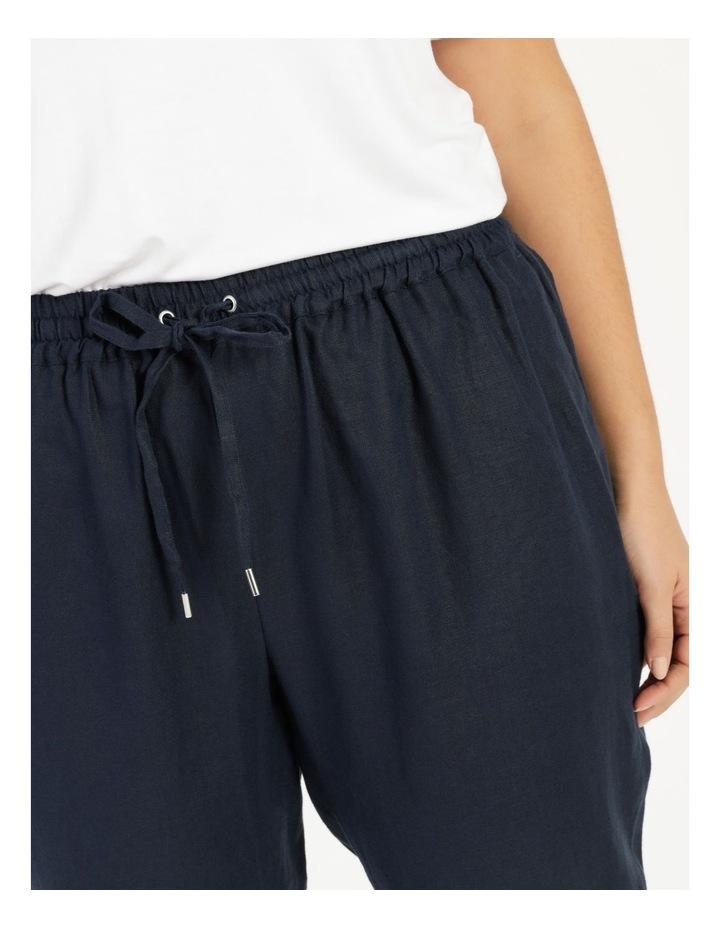 Navy Linen Pants image 5
