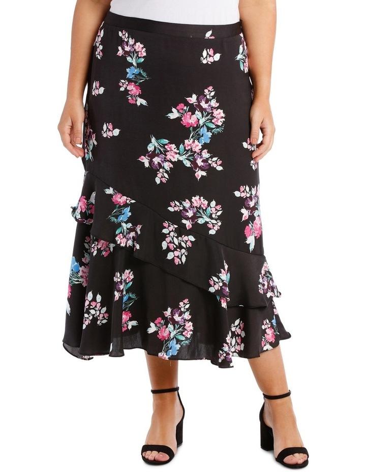 Skirt Mock Wrap Print image 1