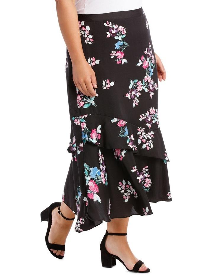 Skirt Mock Wrap Print image 2