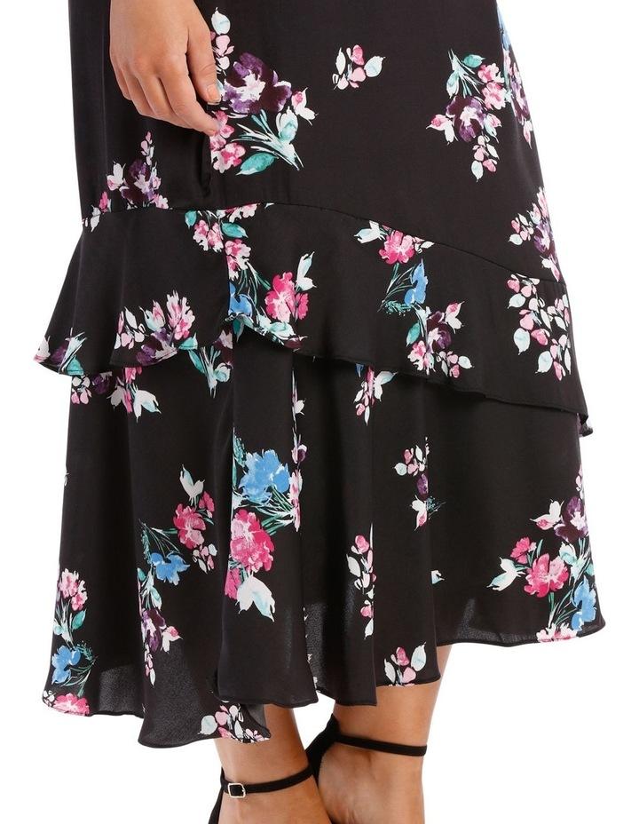 Skirt Mock Wrap Print image 4