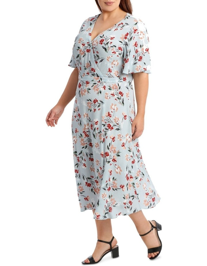Mock Wrap Dress With Spilit image 3