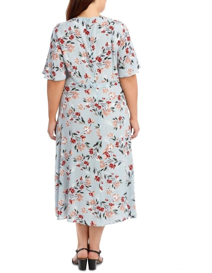 Mock Wrap Dress With Spilit image 5