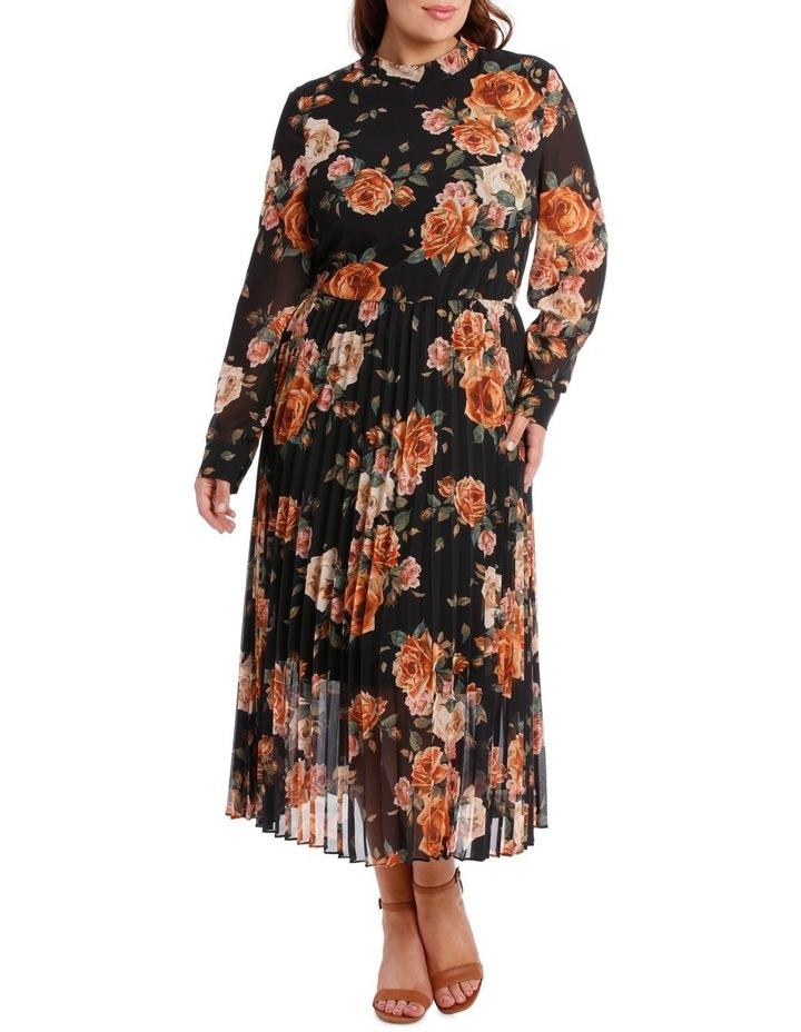 Dress Print Elbow Sleeve pleat skirt image 1