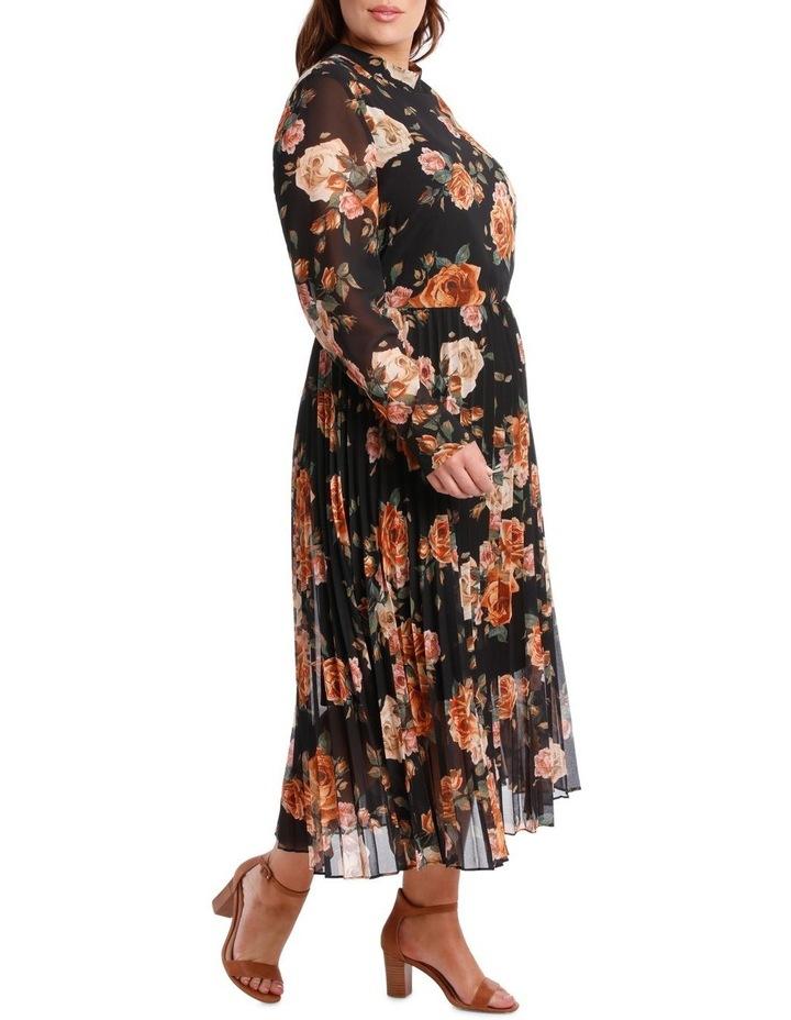 Dress Print Elbow Sleeve pleat skirt image 2