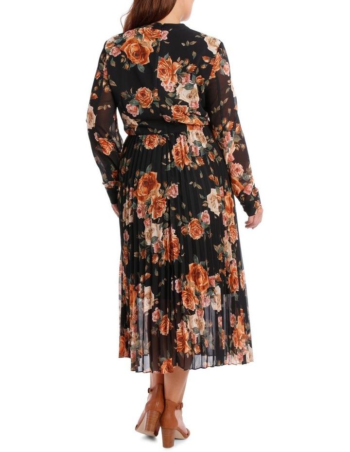 Dress Print Elbow Sleeve pleat skirt image 3