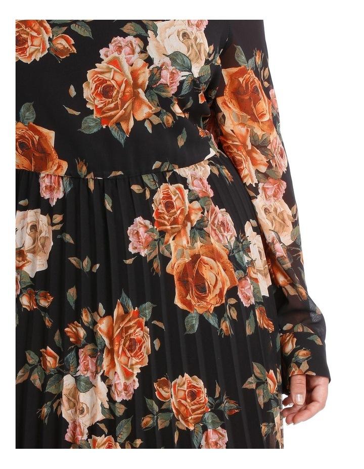 Dress Print Elbow Sleeve pleat skirt image 4