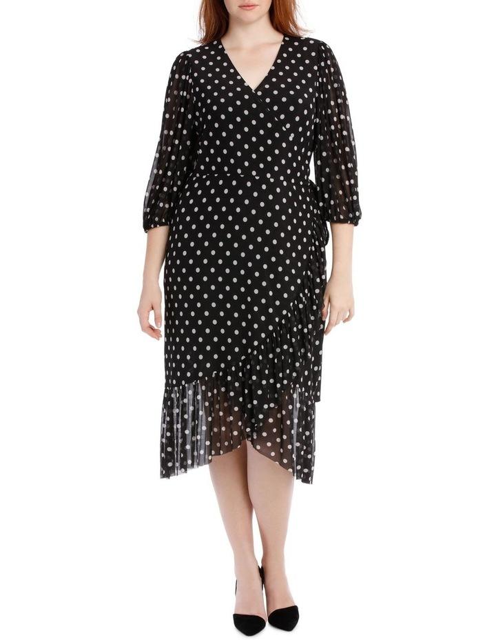 Dress Spot Mesh Mock Wrap image 1