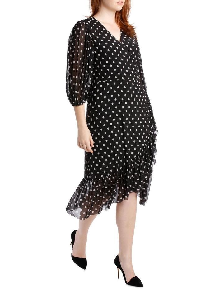 Dress Spot Mesh Mock Wrap image 2