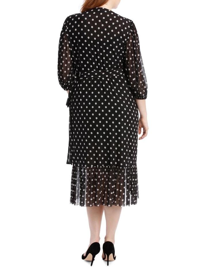 Dress Spot Mesh Mock Wrap image 3