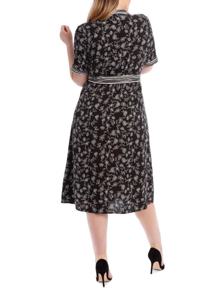 Spliced Button Thru Short Sleeve Dress image 3