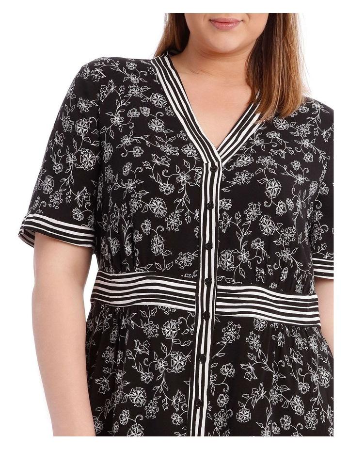 Spliced Button Thru Short Sleeve Dress image 4