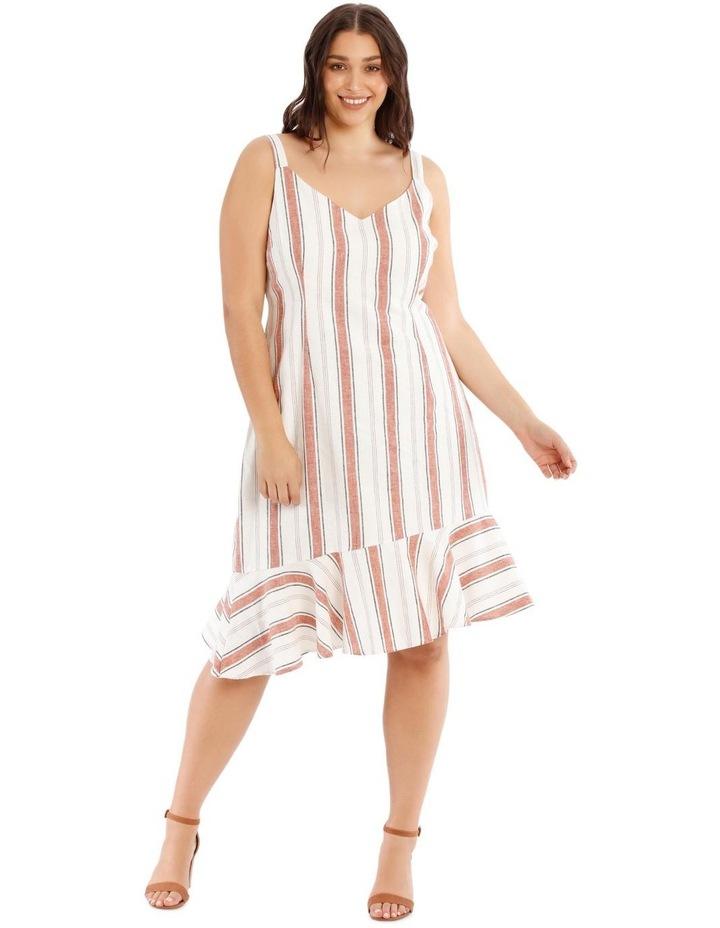 Striped Ruffle Detail Dress image 1