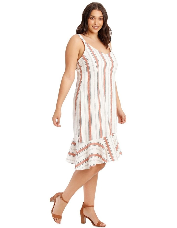 Striped Ruffle Detail Dress image 2