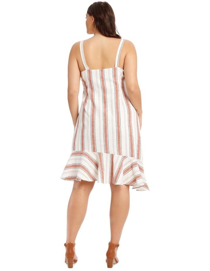 Striped Ruffle Detail Dress image 3