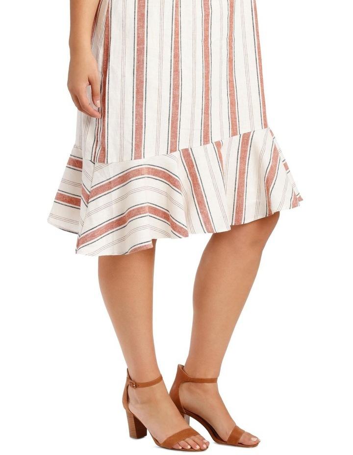 Striped Ruffle Detail Dress image 4