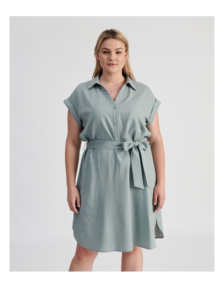 Belted Shirt Dress image 1