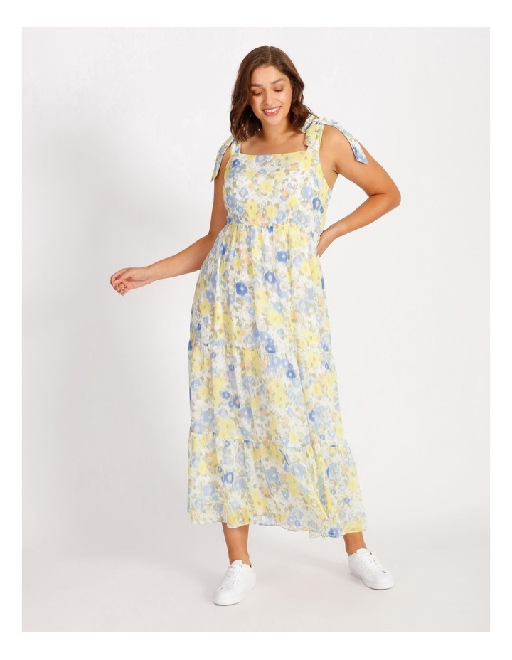 Tiered Floral Maxi Dress image 1