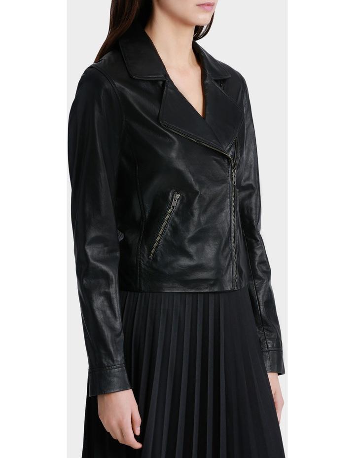 Leather Biker Jacket image 2