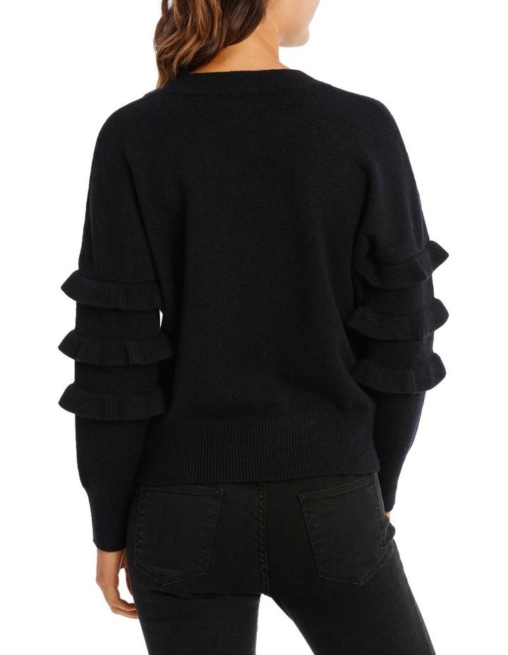 Sweater with Ruffle Sleeve Crew Neck image 3