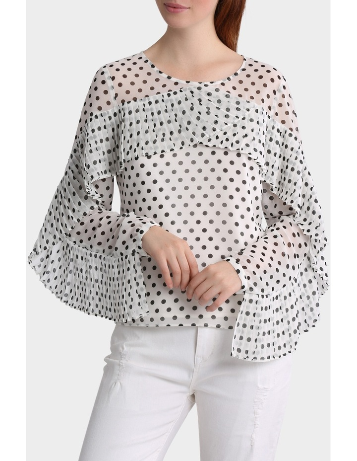 Spotted Top with Pleat details image 1