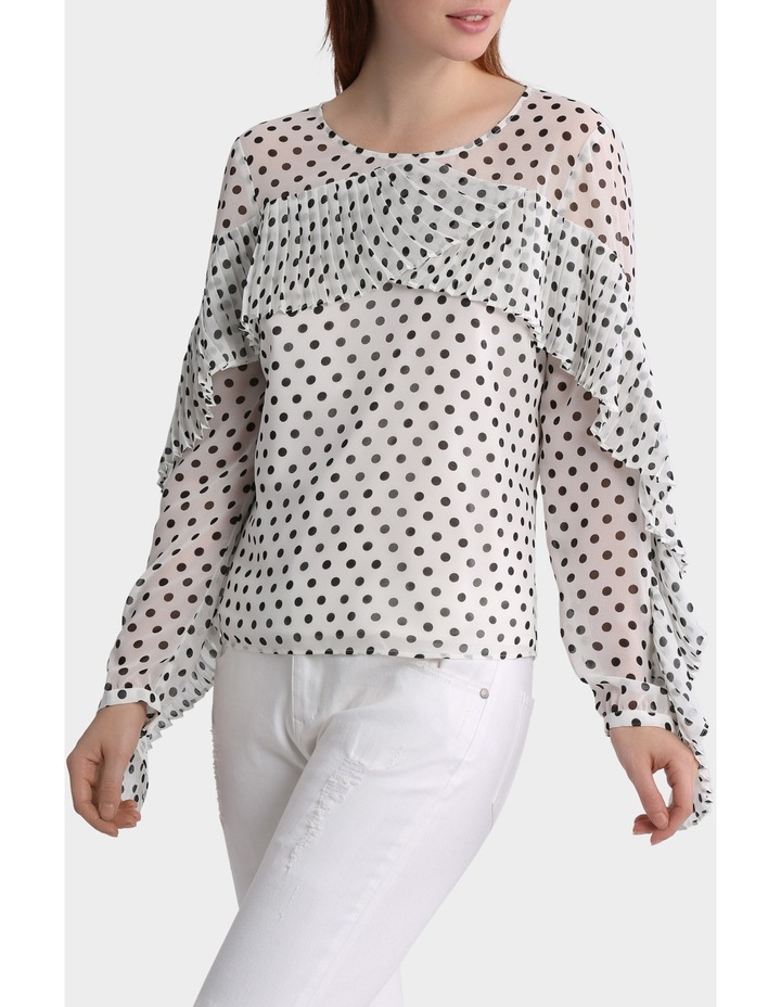 Spotted Top with Pleat details image 2