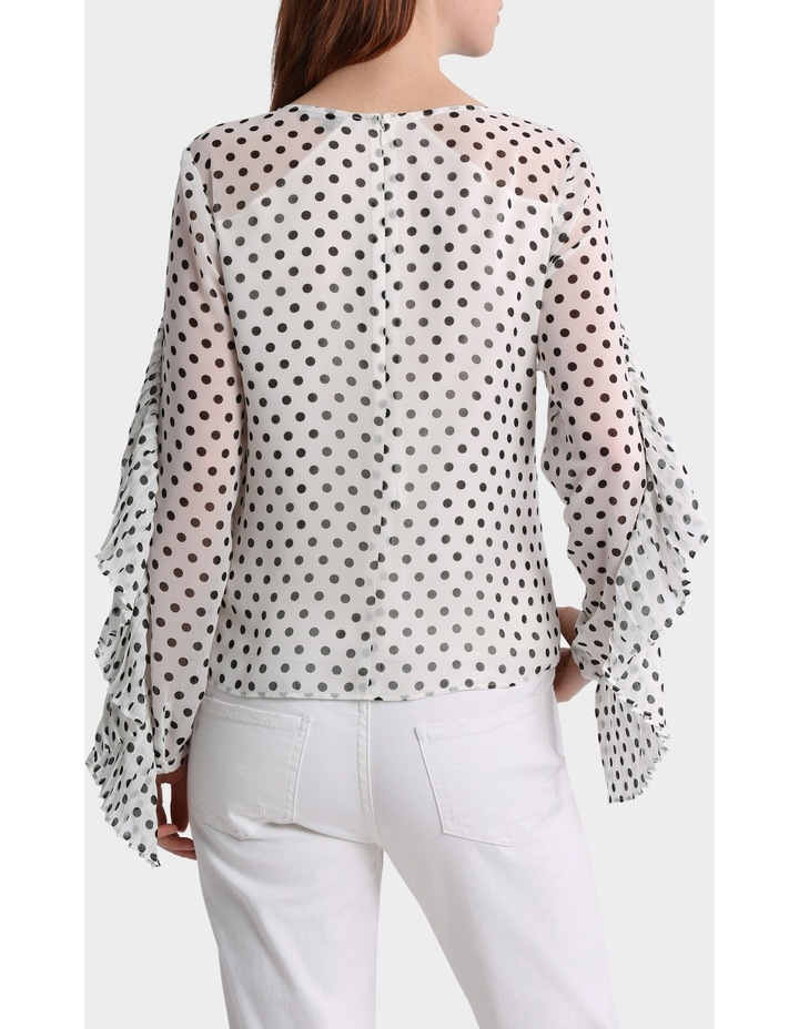 Spotted Top with Pleat details image 3
