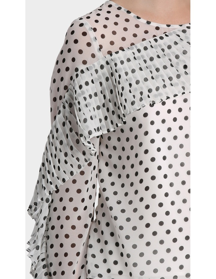 Spotted Top with Pleat details image 4