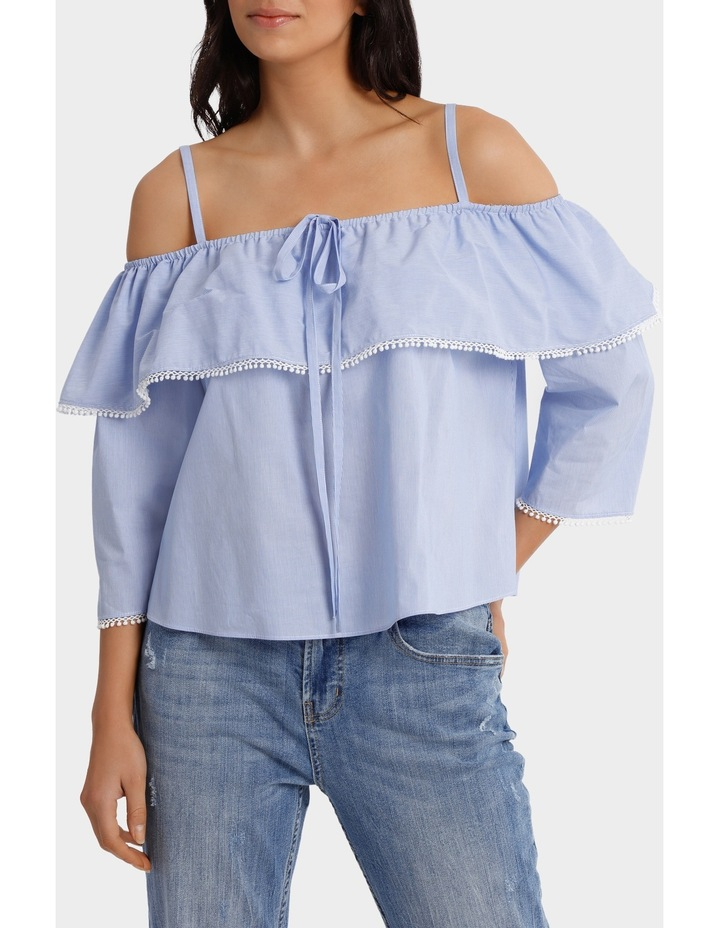 Top With Frill Strap Details image 1