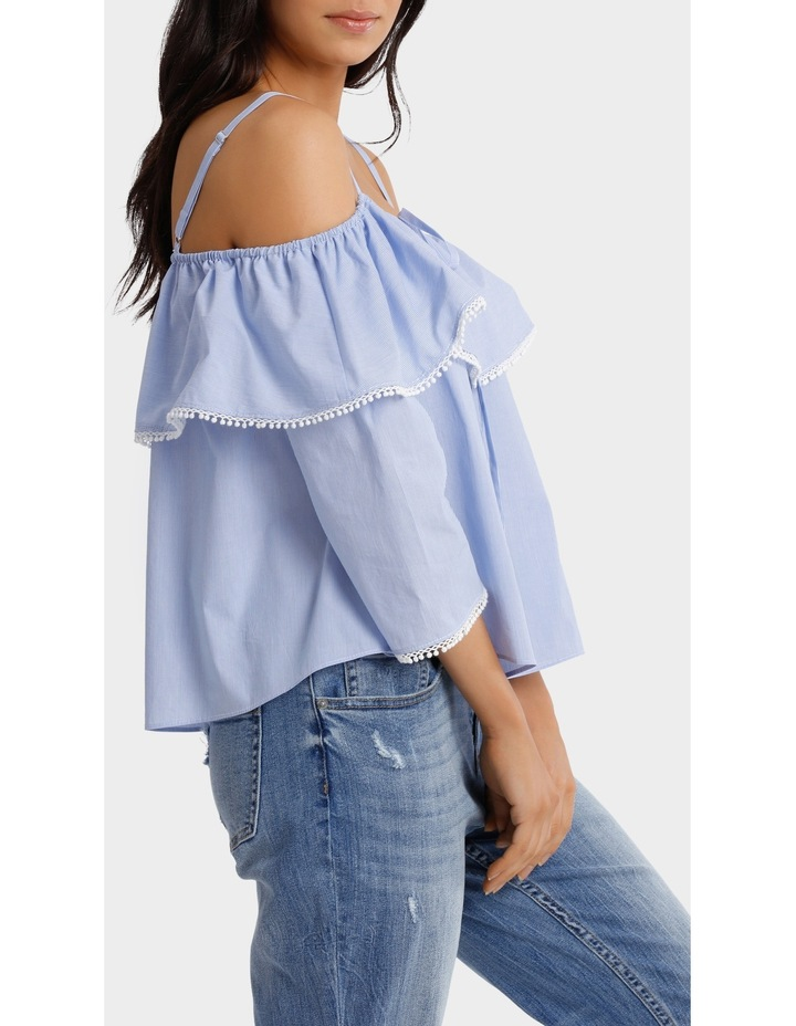 Top With Frill Strap Details image 2