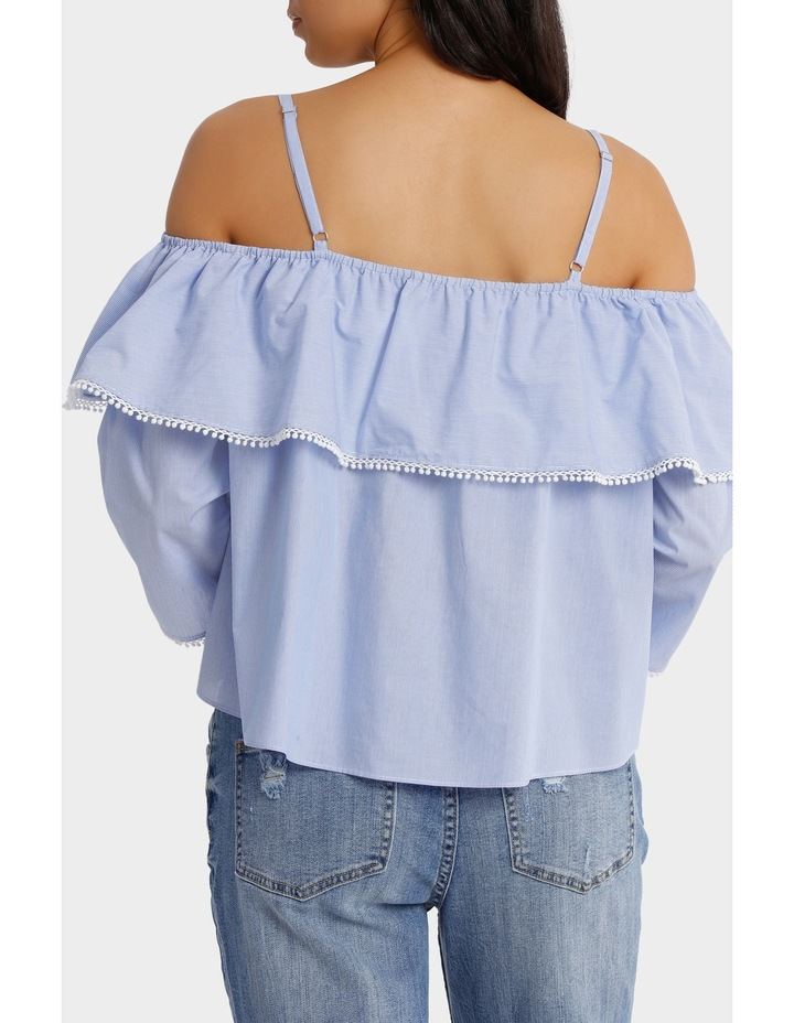 Top With Frill Strap Details image 3