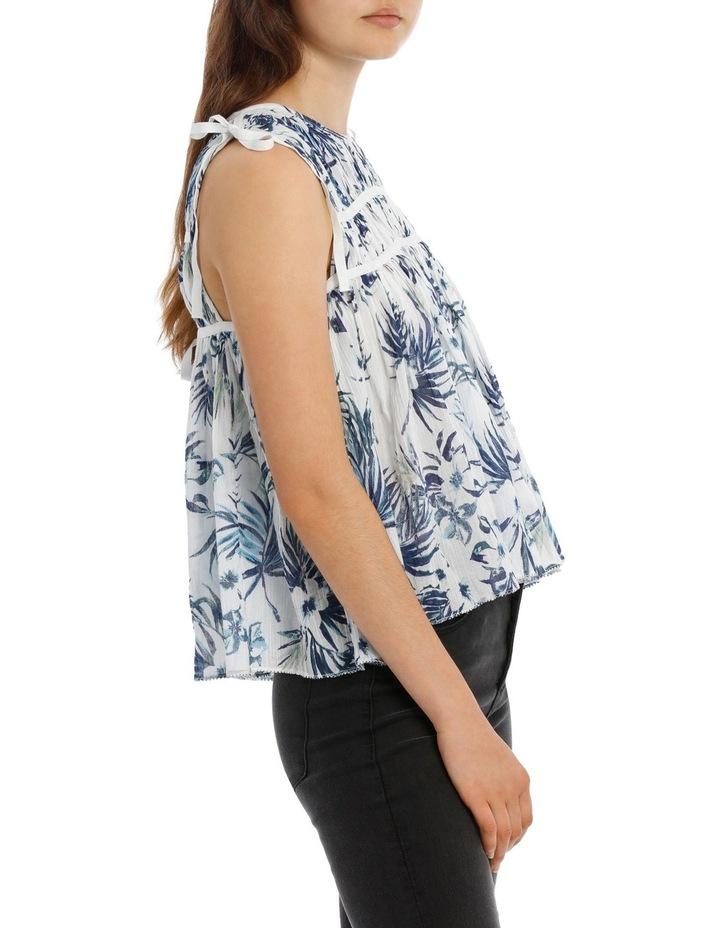Tropical Tie shoulder Top image 2