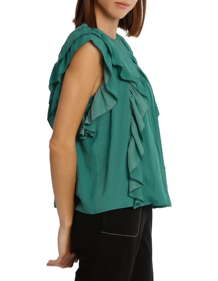 Top With Shirring And Ruffles image 2