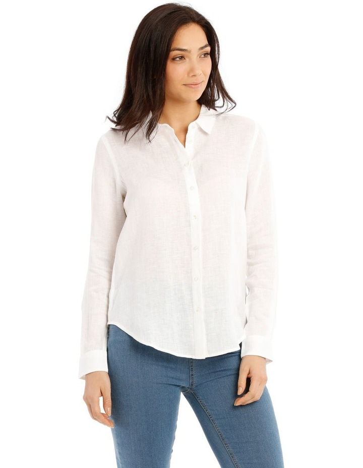 Solid Long Sleeve Linen Shirt image 2