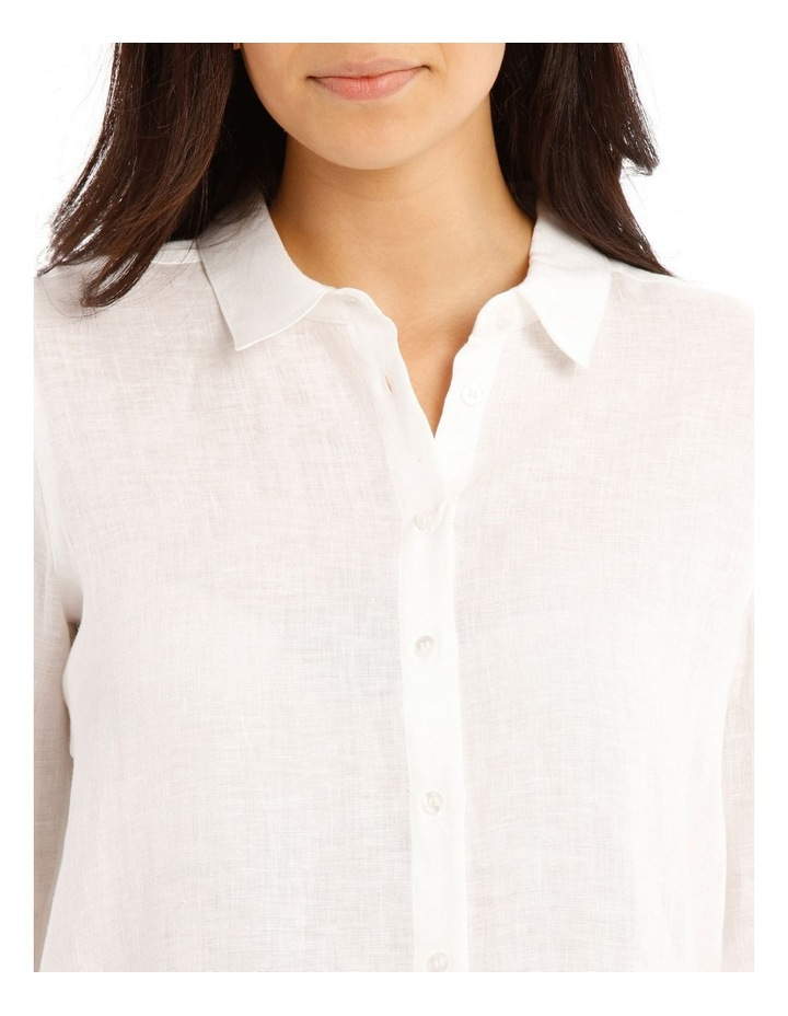 Solid Long Sleeve Linen Shirt image 4