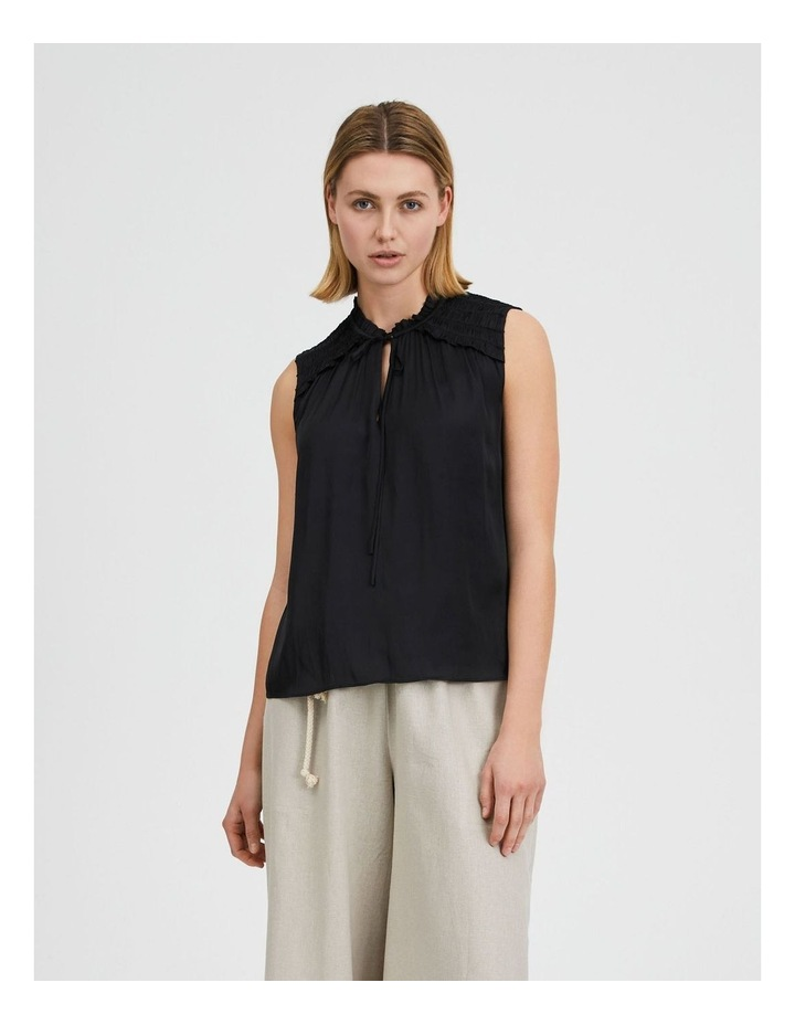 Frill Shoulder Sleeveless Blouse image 1