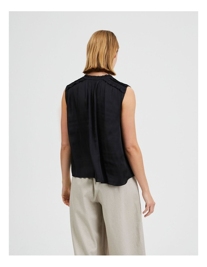 Frill Shoulder Sleeveless Blouse image 3