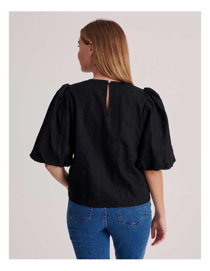 Puff Sleeve Embroidered Top image 4