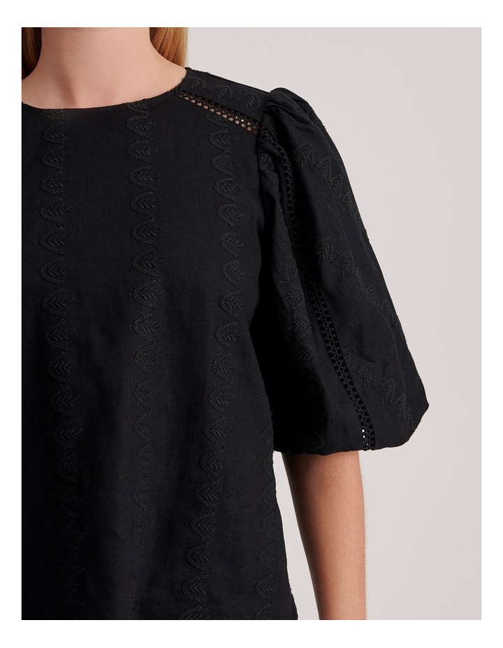 Puff Sleeve Embroidered Top image 5