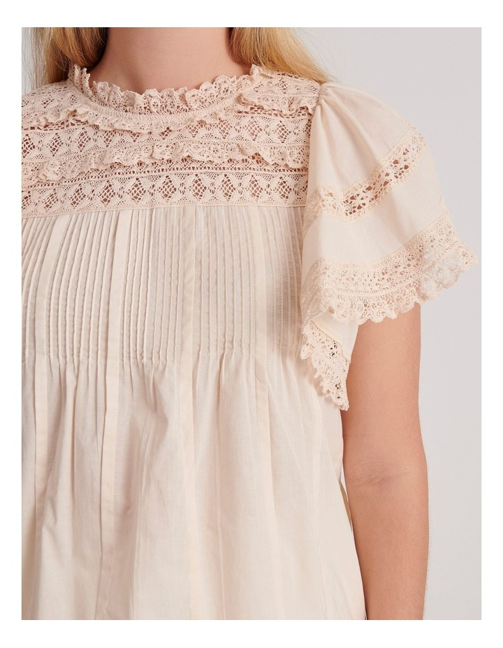 Flutter Sleeve Lace Trim Top image 6