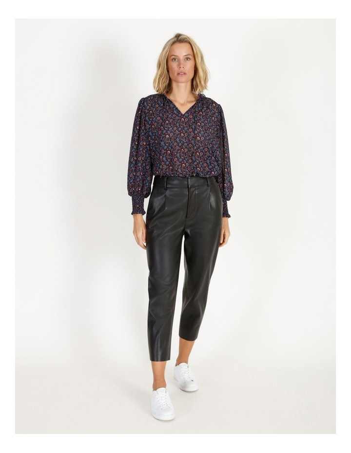 Printed Blouse With Shirring Detail image 2
