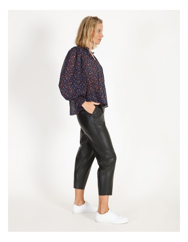 Printed Blouse With Shirring Detail image 3