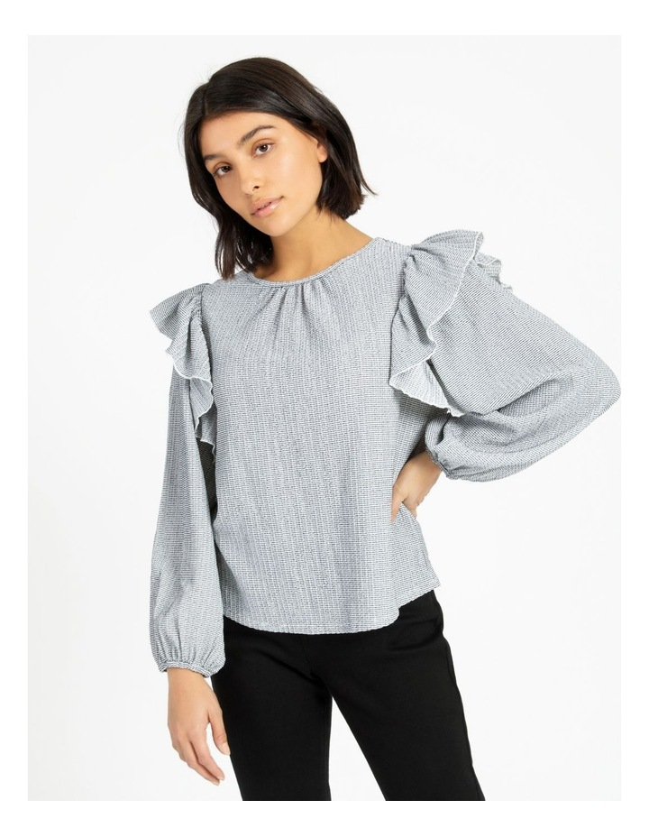 Textured Knit Ruffle Top image 1
