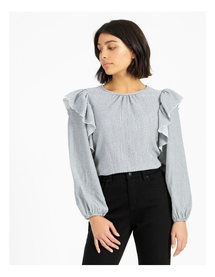 Textured Knit Ruffle Top image 2