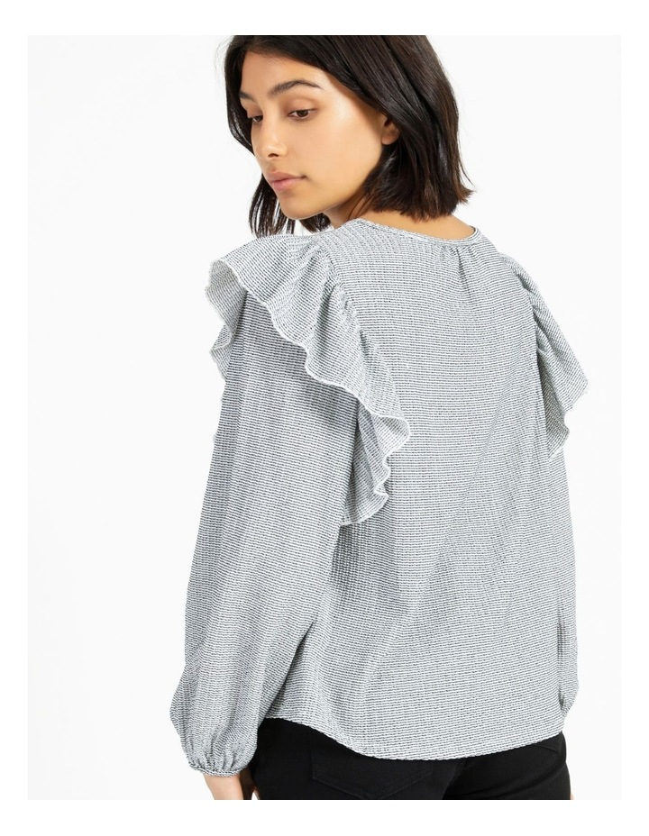 Textured Knit Ruffle Top image 4