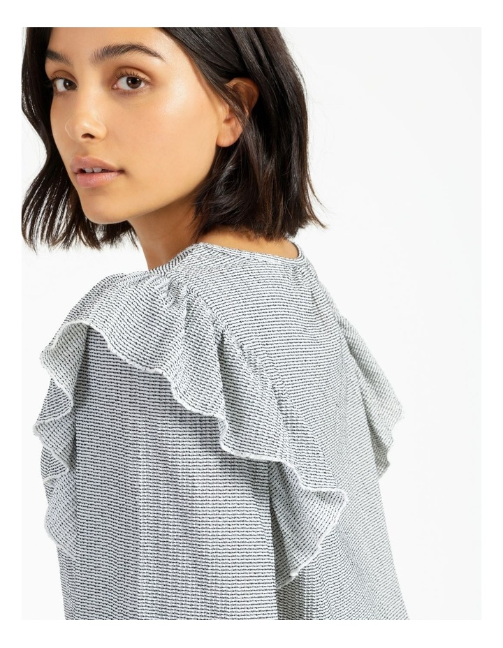 Textured Knit Ruffle Top image 5