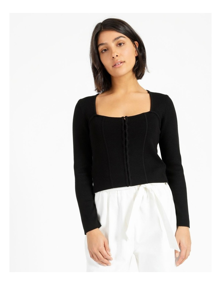 Bustier Long Sleeve Knit Top image 1