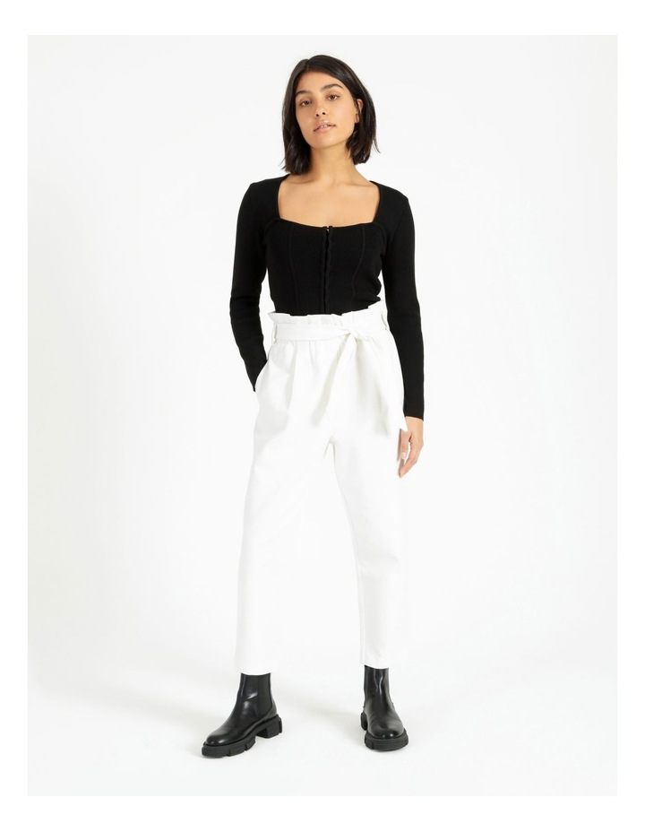 Bustier Long Sleeve Knit Top image 3
