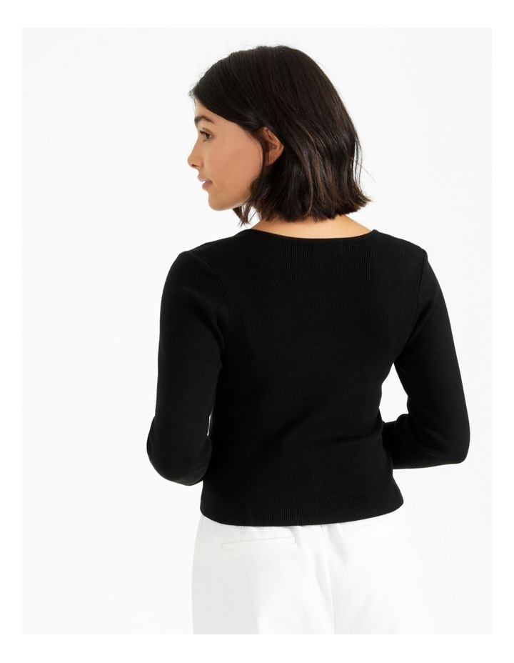 Bustier Long Sleeve Knit Top image 5