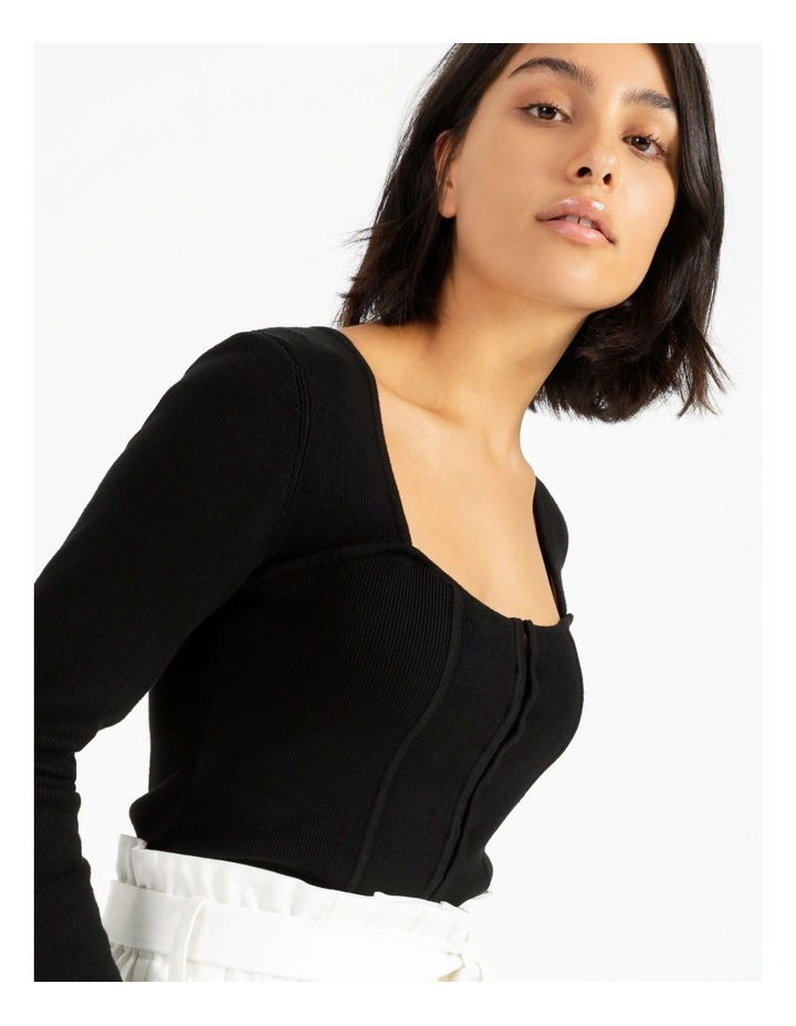 Bustier Long Sleeve Knit Top image 6