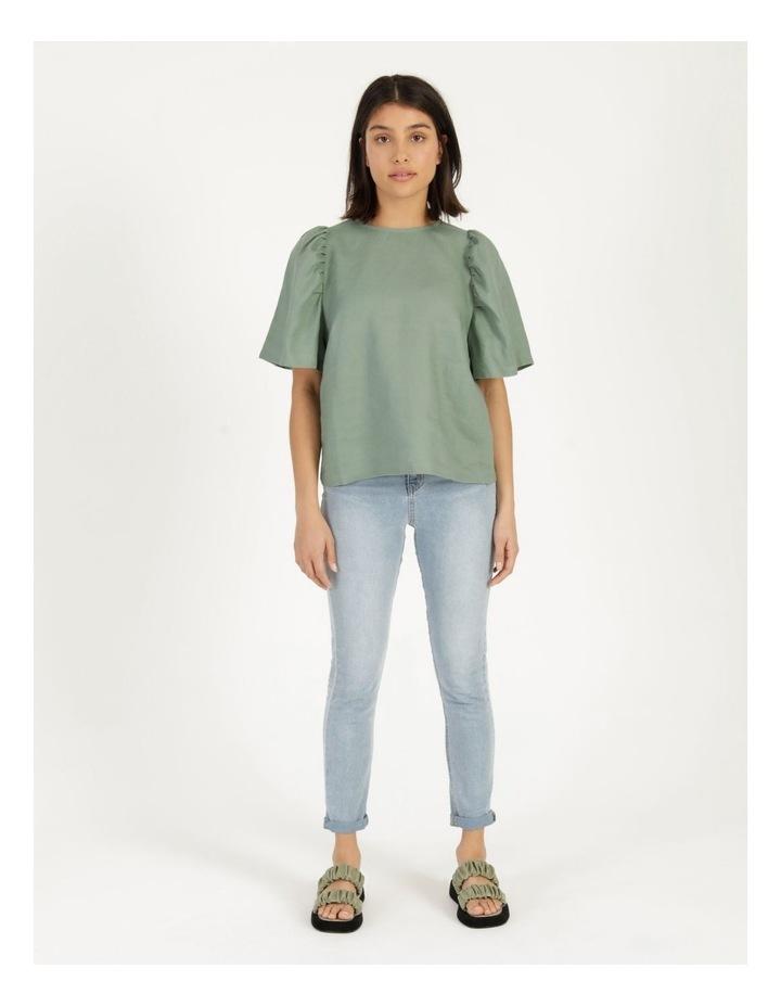 Organic Linen Puff Sleeve Top image 1